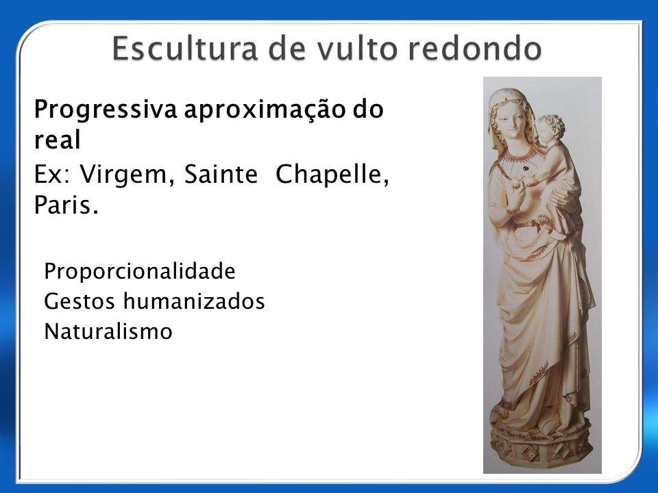 Progressiva aproximação do real Ex: Virgem, Sainte Chapelle, Paris. Proporcionalidade Gestos humanizados Naturalismo