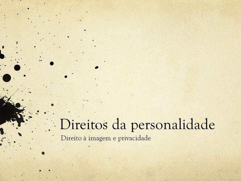 Direitos da personalidade Direito à imagem e privacidade