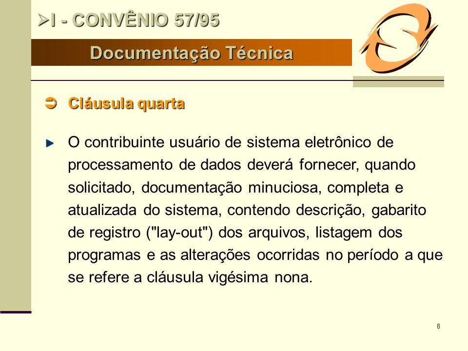 19 BASES II- SINTEGRA II- SINTEGRA Existência do Convênio 57/95 Existência do Convênio 57/95 Projeto de modernização das administrações tributárias, financiado pelo BID.
