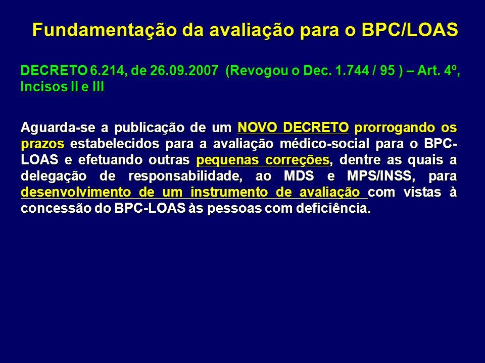 Aguarda-se a publicação de um NOVO DECRETO prorrogando os prazos estabelecidos para a avaliação médico-social para o BPC- LOAS e efetuando outras pequ