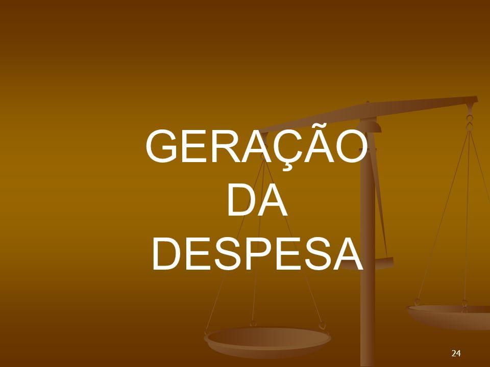 24 GERAÇÃO DA DESPESA