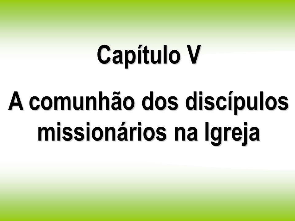 Capítulo V A comunhão dos discípulos missionários na Igreja