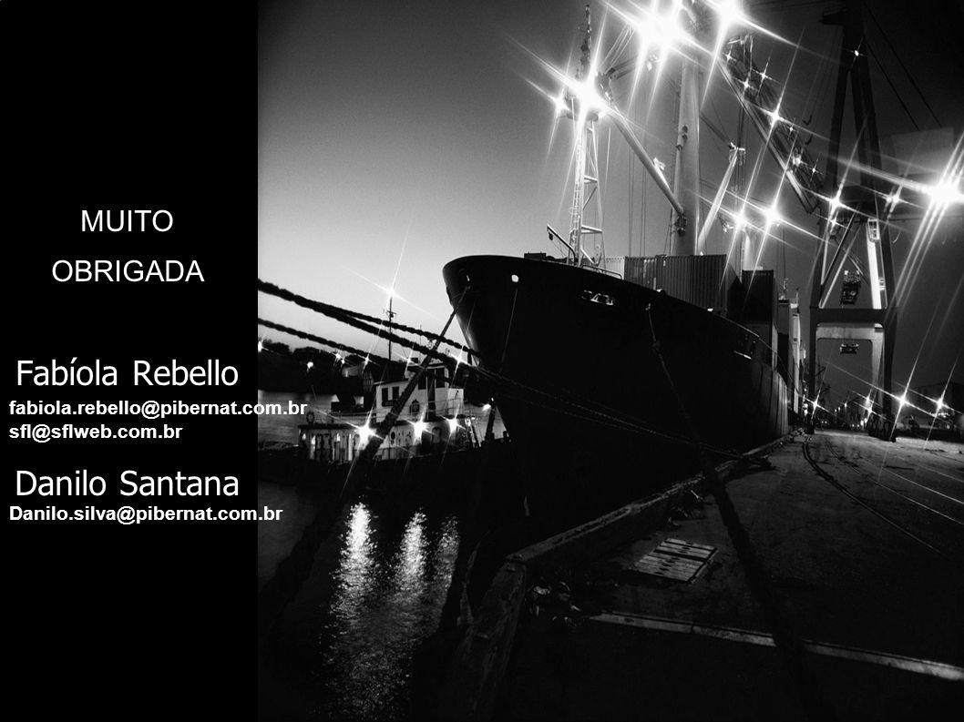 MUITO OBRIGADA Fabíola Rebello Danilo Santana sfl@sflweb.com.br fabiola.rebello@pibernat.com.br Danilo.silva@pibernat.com.br
