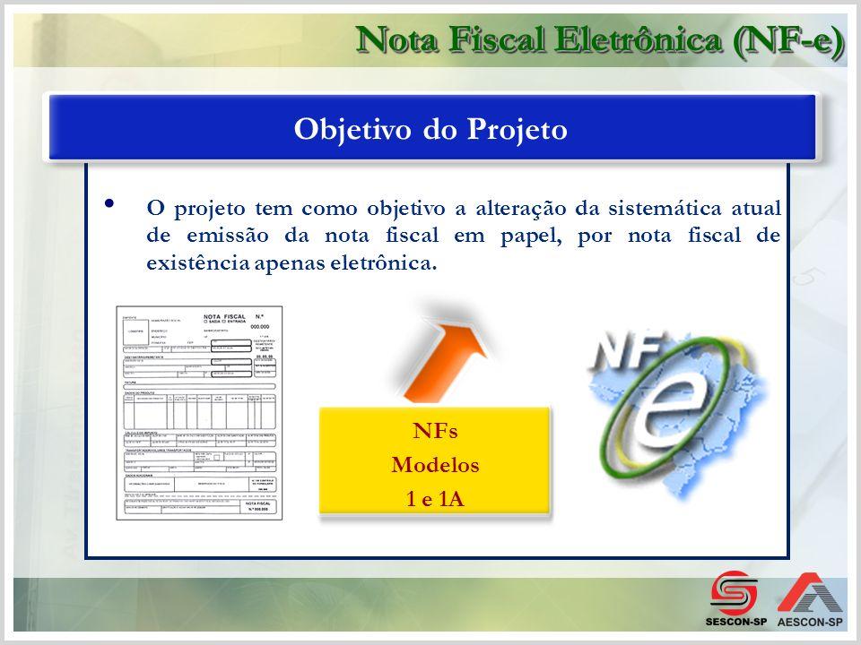 O projeto tem como objetivo a alteração da sistemática atual de emissão da nota fiscal em papel, por nota fiscal de existência apenas eletrônica. Obje