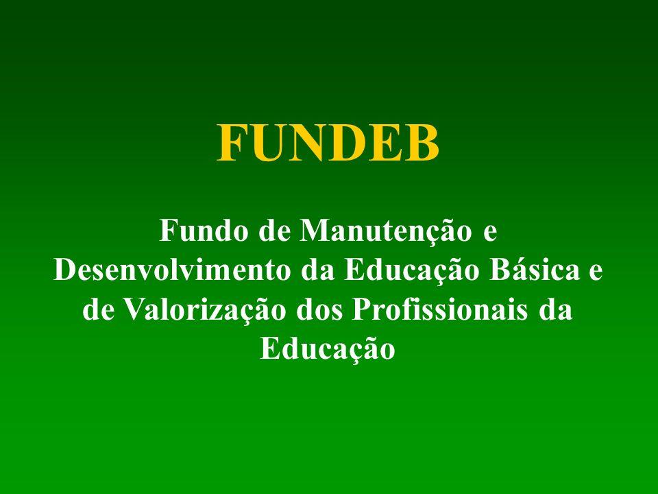 FUNDEB Fundo de Manutenção e Desenvolvimento da Educação Básica e de Valorização dos Profissionais da Educação