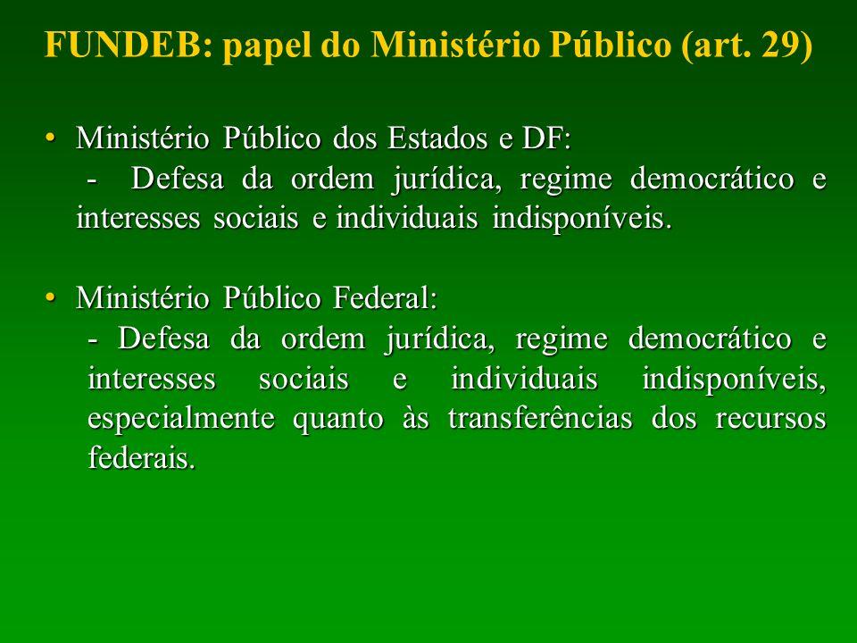 Ministério Público dos Estados e DF: Ministério Público dos Estados e DF: - Defesa da ordem jurídica, regime democrático e interesses sociais e indivi
