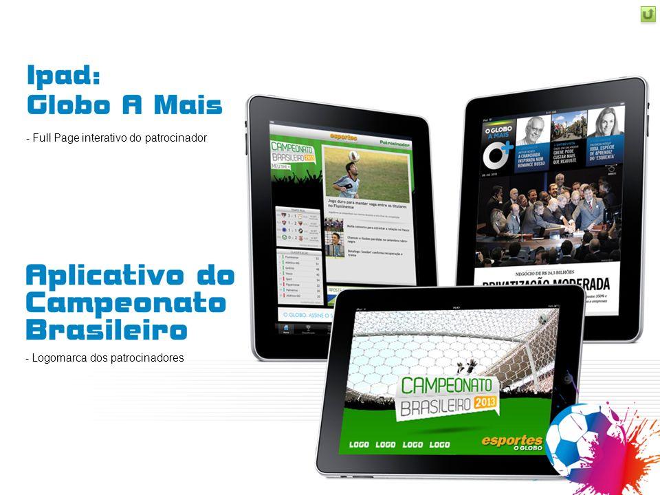 - Full Page interativo do patrocinador - Logomarca dos patrocinadores