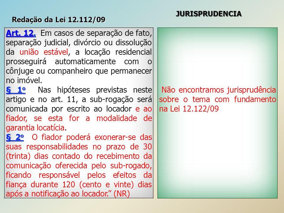 Redação da Lei 12.112/09 JURISPRUDENCIA