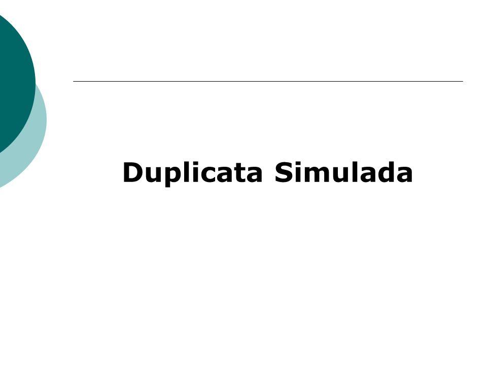Duplicata Simulada