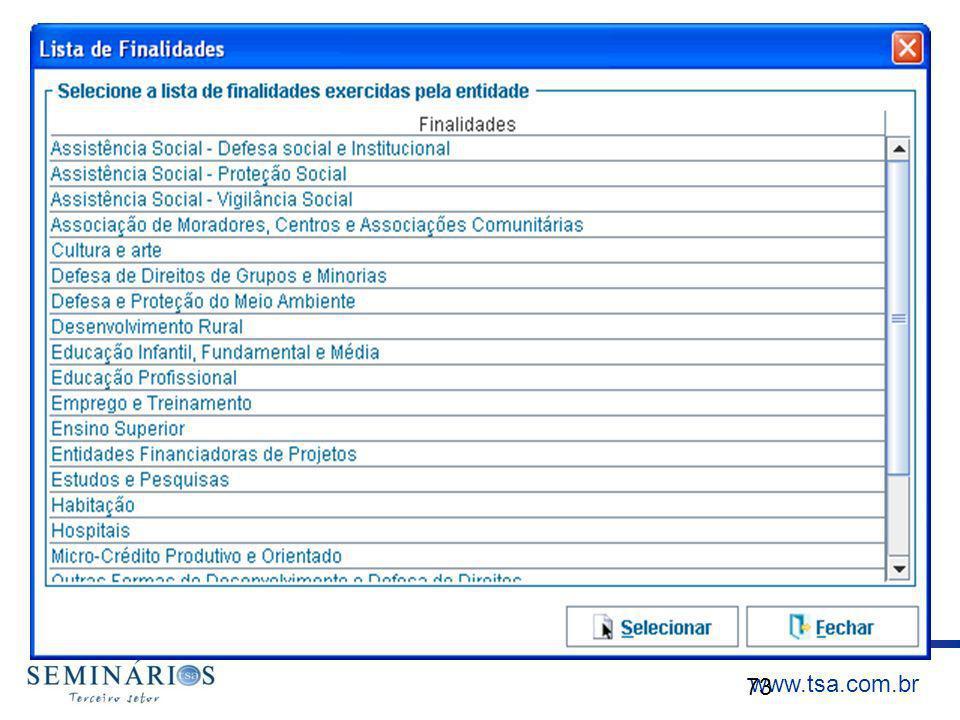 www.tsa.com.br 73