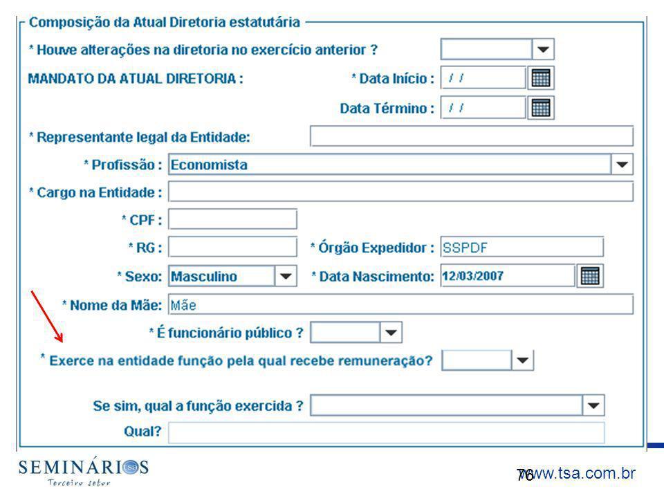 www.tsa.com.br 76