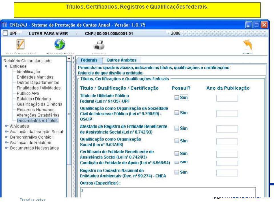 www.tsa.com.br Títulos, Certificados, Registros e Qualificações federais. 79 www.anec.org.br