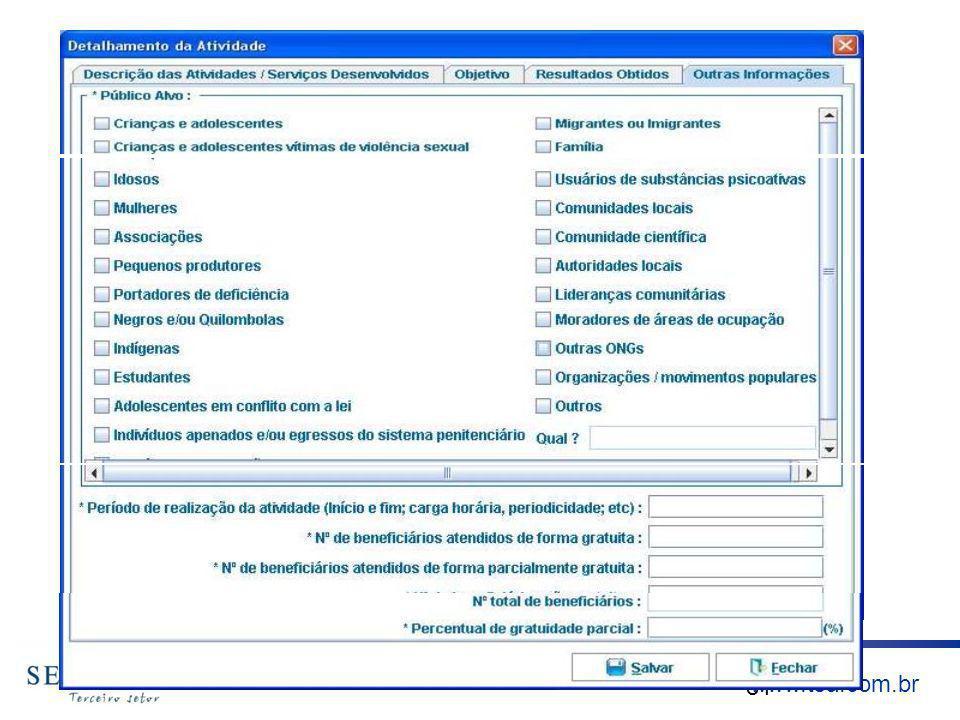 www.tsa.com.br DETALHAMENTO DAS ATIVIDADES 81 www.anec.org.br