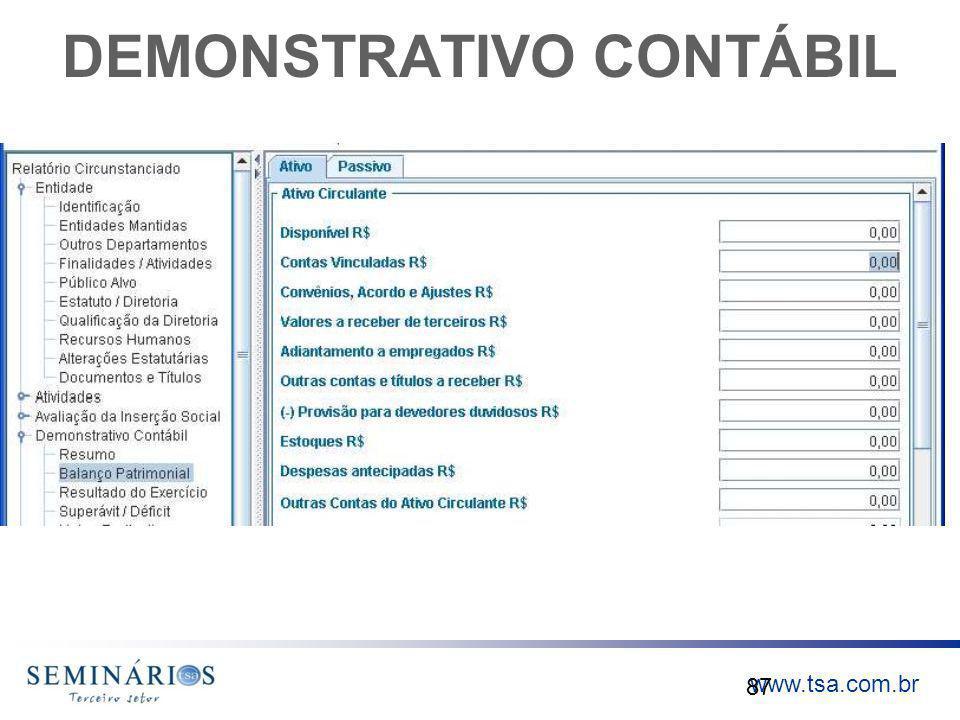 www.tsa.com.br DEMONSTRATIVO CONTÁBIL 87