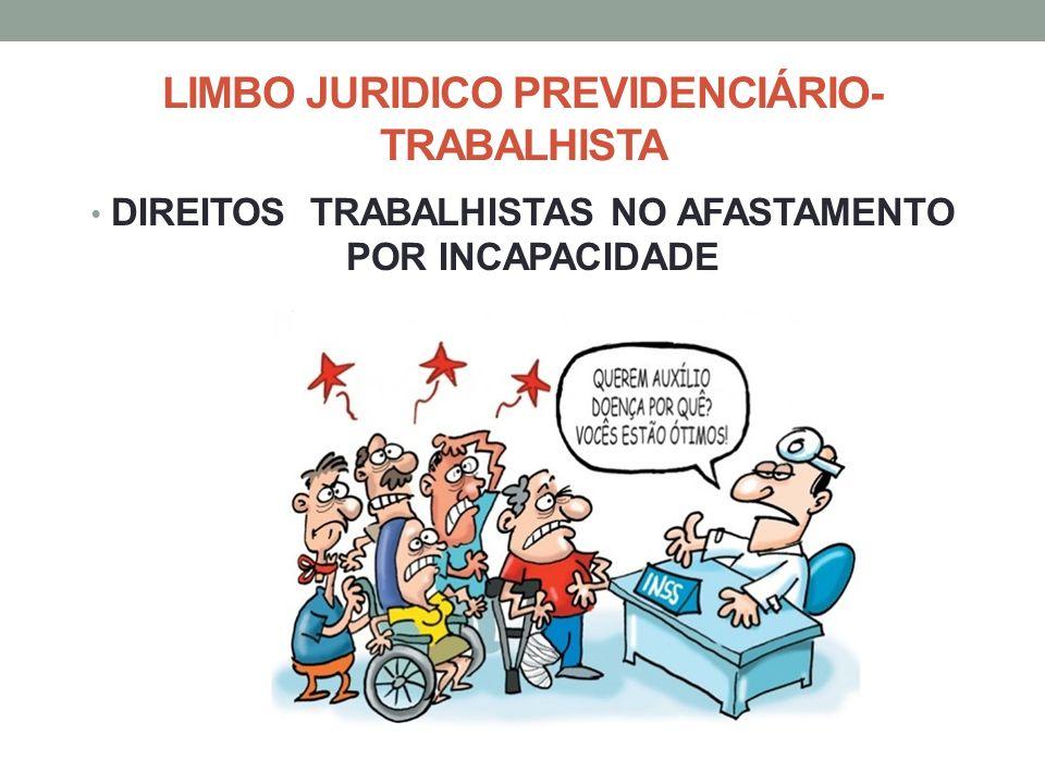 LIMBO JURIDICO PREVIDENCIÁRIO- TRABALHISTA DIREITOS TRABALHISTAS NO AFASTAMENTO POR INCAPACIDADE