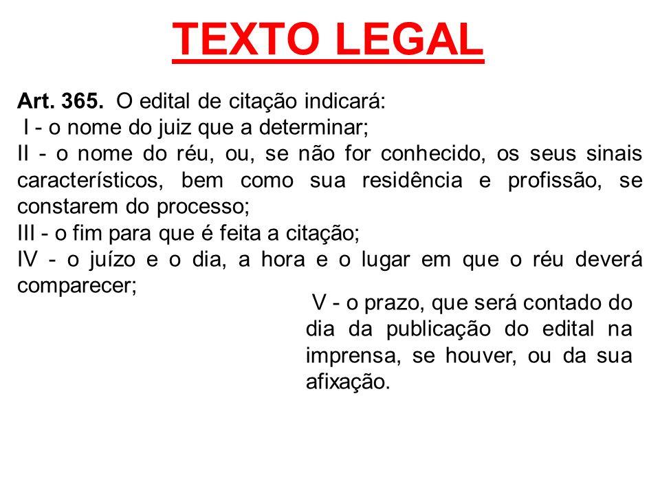 TEXTO LEGAL Art.365.