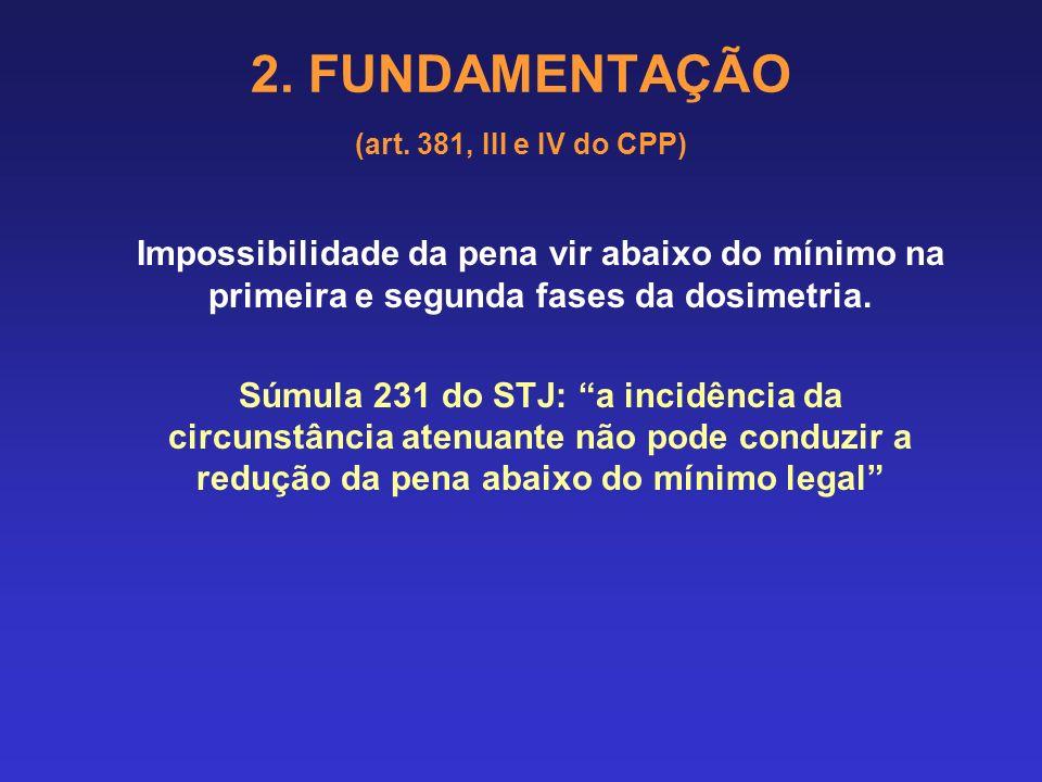 2. FUNDAMENTAÇÃO (art. 381, III e IV do CPP) HABEAS CORPUS. PENAL. REINCIDÊNCIA. BIS IN IDEM. INOCORRÊNCIA. [...] 1. A pena agravada pela reincidência