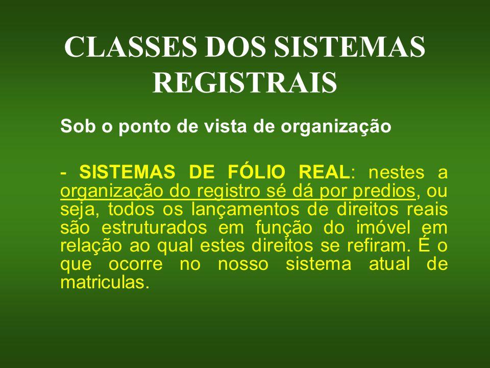 QUADRO DA EVOLUÇÃO LEGISLATIVA REGISTRAL NO BRASIL Decreto nº 4867/39 – regime precursor ao atual.