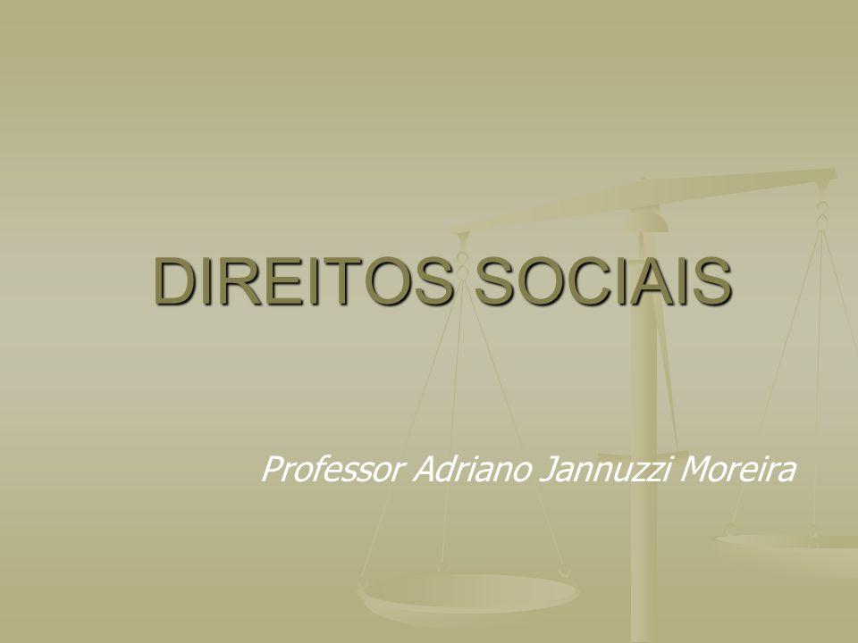 DIREITOS SOCIAIS Professor Adriano Jannuzzi Moreira