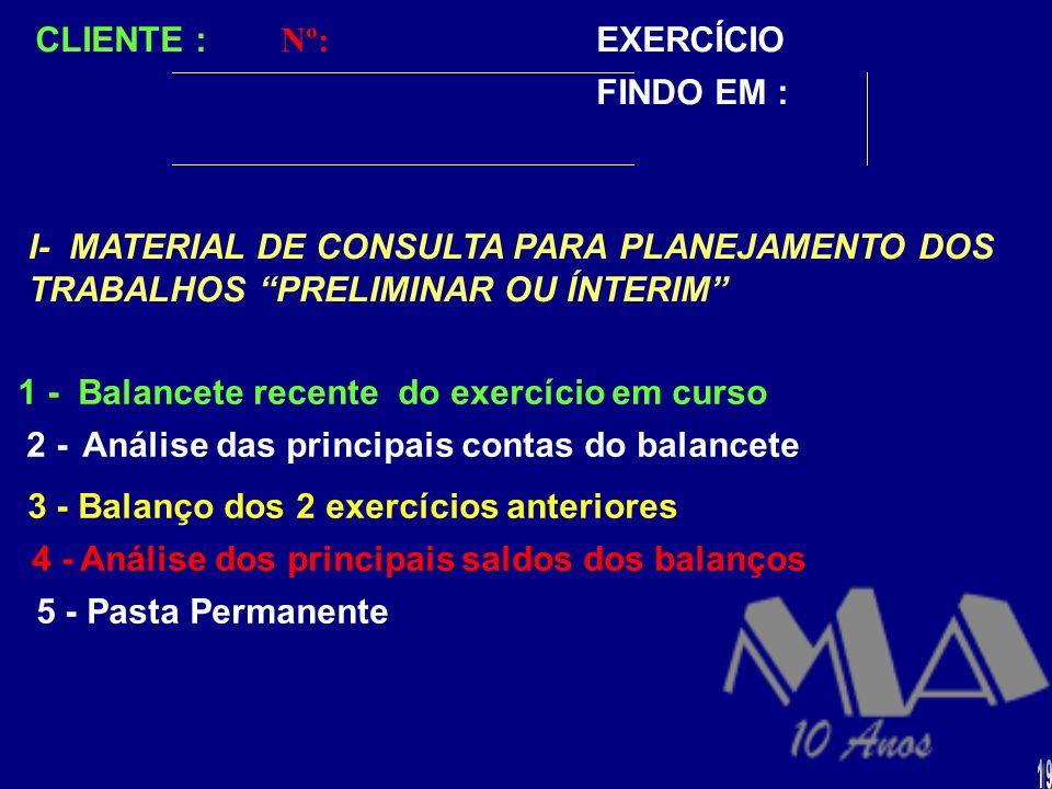 METODOLOGIA PRÁTICA PARA A ELABORAÇÃO DE UM ADEQUADO PLANEJAMENTO DE AUDITORIA: I - VISITAS PRELIMINARES OU DE ÍNTERIM MATERIAL DE CONSULTA II - DADOS