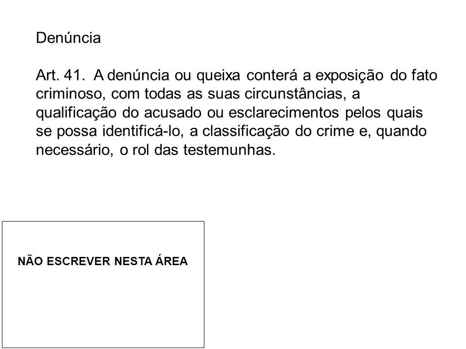 Denúncia Art.41.