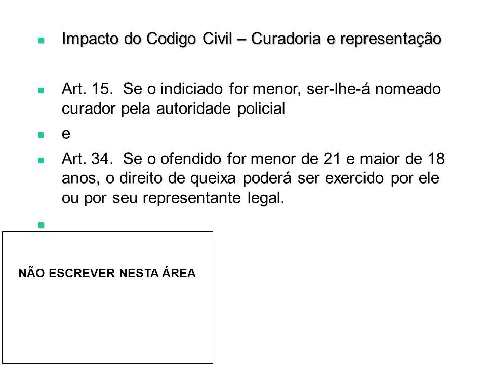 Impacto do Codigo Civil – Curadoria e representação Impacto do Codigo Civil – Curadoria e representação Art.