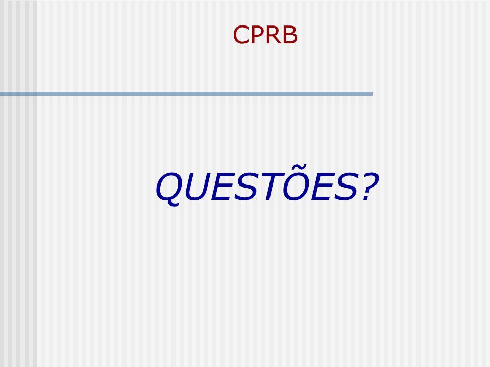 CPRB QUESTÕES?