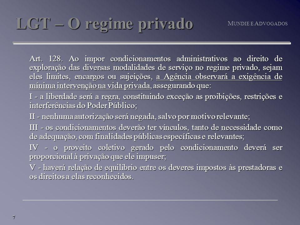 7 M UNDIE E A DVOGADOS LGT – O regime privado Art.