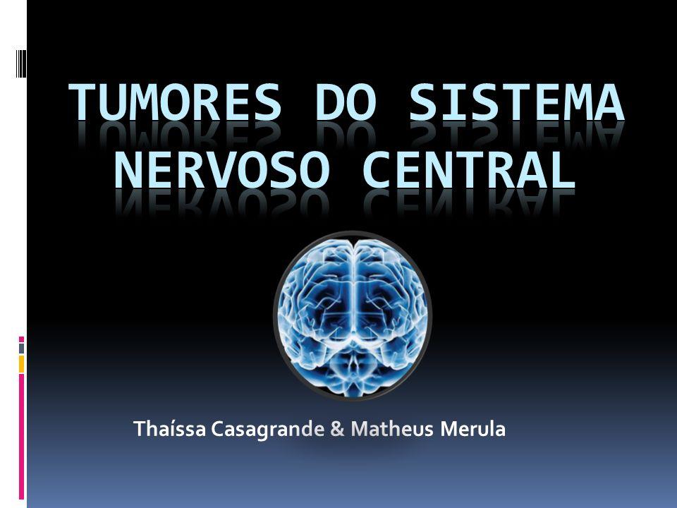 Epidemiologia Tumores do SNC correspondem a 20% dos cânceres na infância e 70% destes surgem na fossa posterior; um número comparável de tumores em adultos surge nos hemisférios cerebrais Taxa de mortalidade: 6 por 100.000 (EUA) Metástase > tumores cerebrais primários Tumores gliais: 50-60% Meningiomas: 25% Schwannomas: 10% dos tumores cerebrais primários