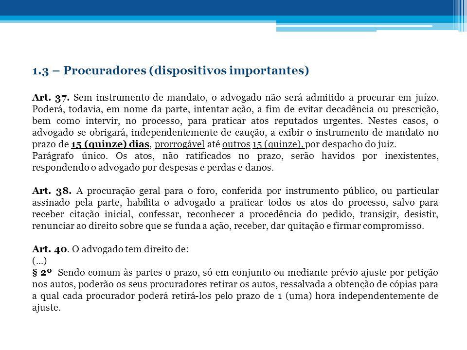 1.4 – Aspectos éticos e econômicos do processo 1.4.1 – Aspectos econômicos (arts.
