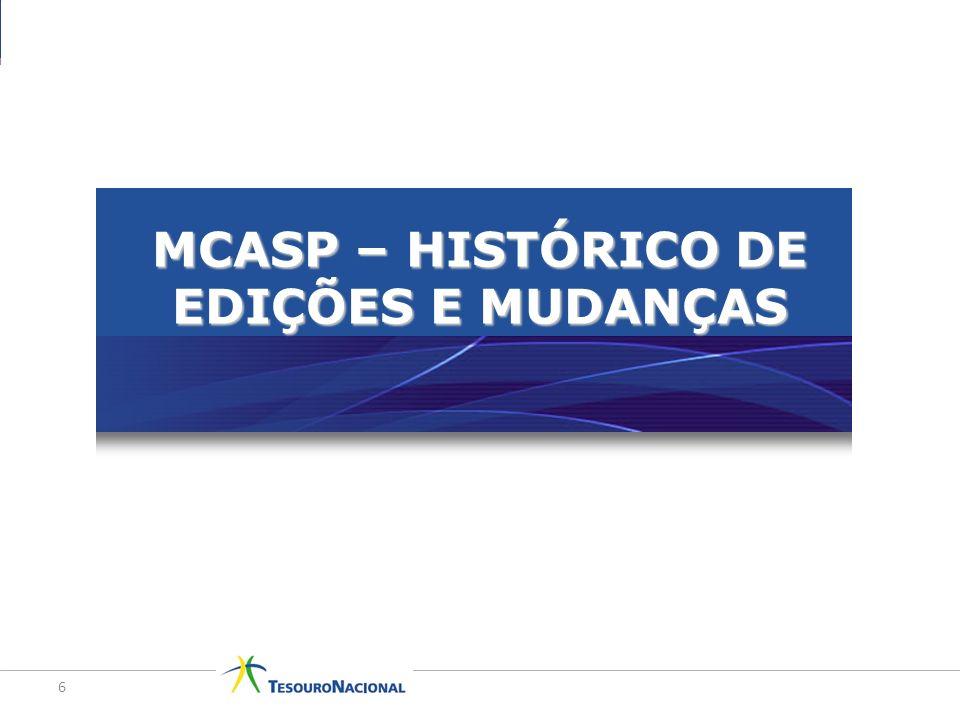 MCASP – HISTÓRICO DE EDIÇÕES E MUDANÇAS 6