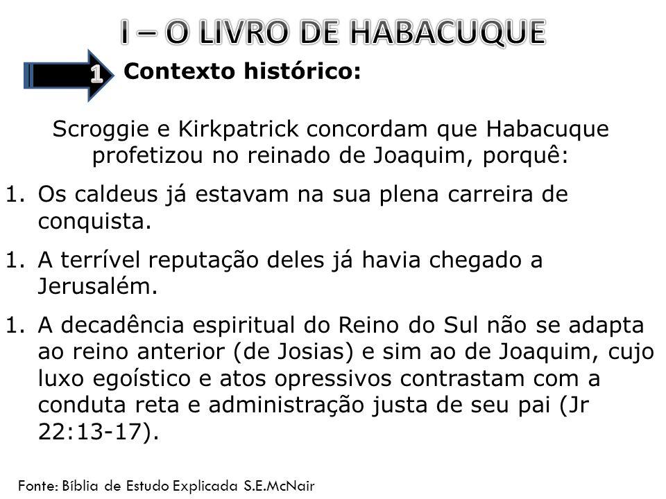 Vida Pessoal: Sobre Habacuque dizem: 1.O pseudo-Epifânio afirma que ele pertencia a tribo de Simeão nascido num lugar chamado Baitzocar.