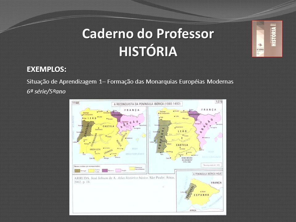 Caderno do Professor HISTÓRIA EXEMPLOS: Situação de Aprendizagem 1– Formação das Monarquias Européias Modernas 6ª série/5ºano
