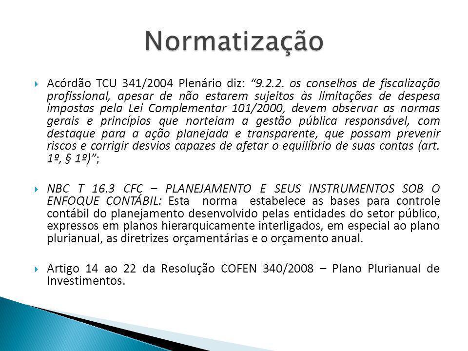 Acórdão TCU 341/2004 Plenário diz: 9.2.2. os conselhos de fiscalização profissional, apesar de não estarem sujeitos às limitações de despesa impostas