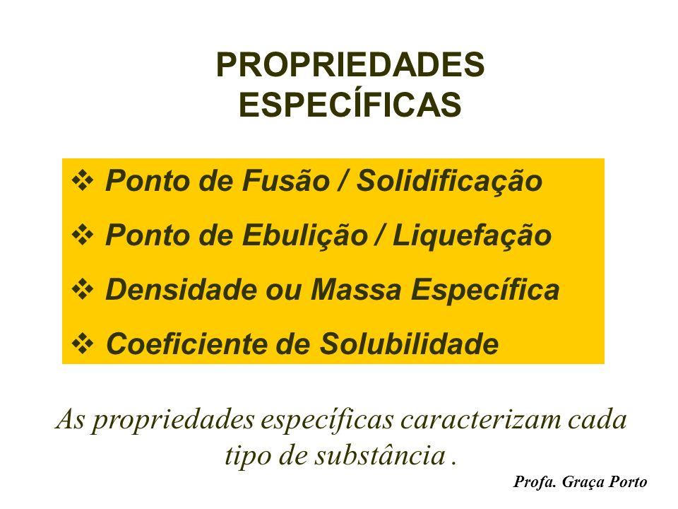 Profa. Graça Porto PROPRIEDADES FUNCIONAIS Hidrocarbonetos são inflamáveis. Os ácidos têm sabor azedo. Os sais fundidos conduzem corrente elétrica. As