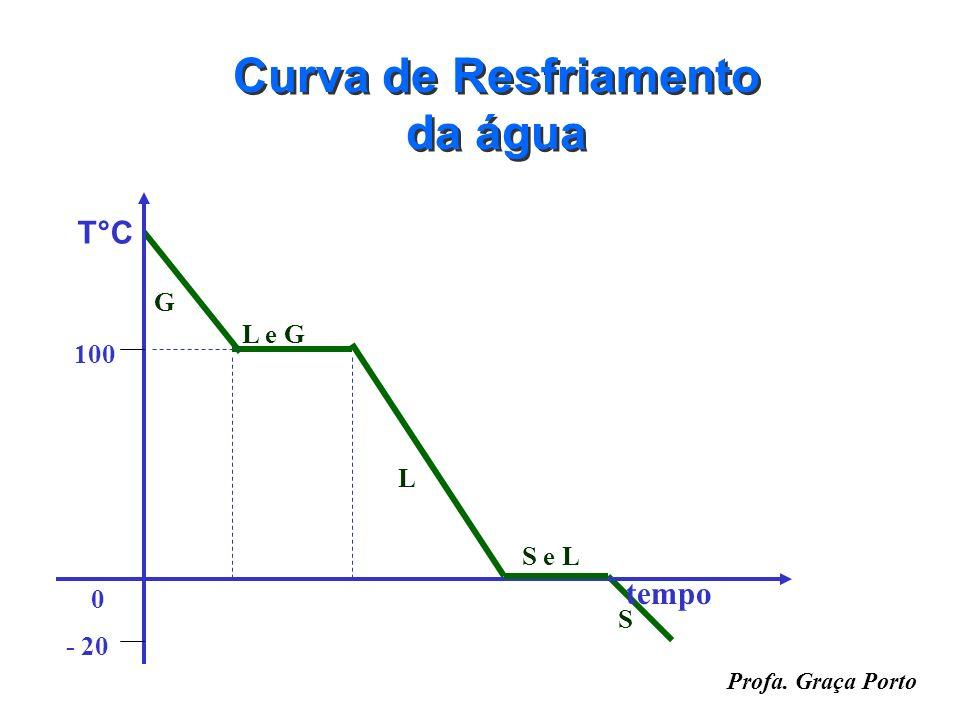 Profa. Graça Porto Curva de Aquecimento da água S L L e G G T°C 100 0 - 20 tempo S e L