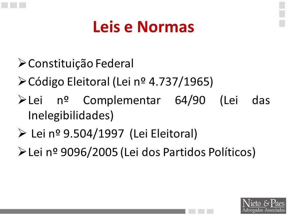 Leis e Normas Resoluções do TSE n° 23.373(Escolha e Registro de Candidatos) nº 23.372 (Garantias, Voto, Diplomação...) nº 23.370 (Propaganda e Condutas Vedadas) nº23.367 ( Representações,Reclamações e Resposta) nº 23.364 (Pesquisas) nº 23.363 (Crimes Eleitorais) nº 23.341 (Calendário Eleitoral) nº 23.376 (Arrecadação e Gastos)