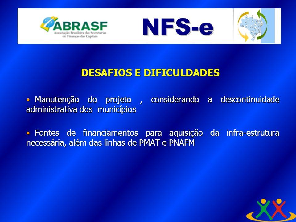 Manutenção do projeto, considerando a descontinuidade administrativa dos municípios Manutenção do projeto, considerando a descontinuidade administrati