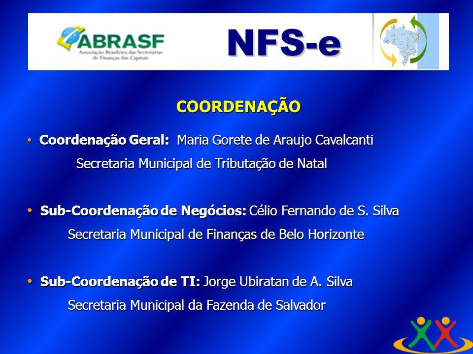 COORDENAÇÃO Coordenação Geral: Maria Gorete de Araujo Cavalcanti Coordenação Geral: Maria Gorete de Araujo Cavalcanti Secretaria Municipal de Tributaç
