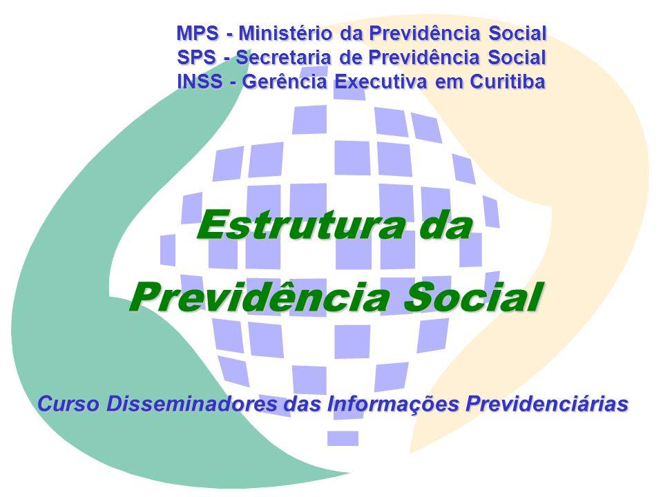 MPS - Ministério da Previdência Social SPS - Secretaria de Previdência Social INSS - Gerência Executiva em Curitiba MÓDULO IV PREVIDÊNCIA SOCIAL : PRE