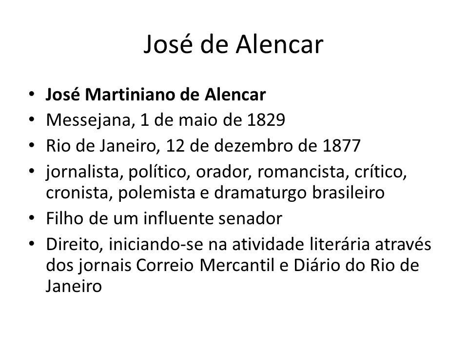 Foi casado com Ana Cochrane Era irmão do diplomata Leonel Martiniano de Alencar, barão de Alencar criou uma literatura nacionalista, empregando um vocabulário e uma sintaxe típicos do Brasil e evitando o estilo lusitano, que até então prevalecia na literatura aqui produzida.