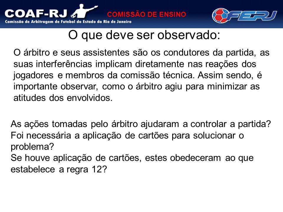 COMISSÃO DE ENSINO BANGU X FLUMINENSE – SUB-17 DIFICULDADE DA PARTIDA: MÉDIA Um jogo tranquilo não oferecendo muitas dificuldades para a equipe de arbitragem.