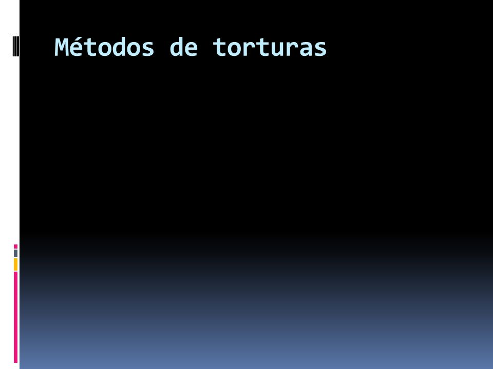 Métodos de torturas