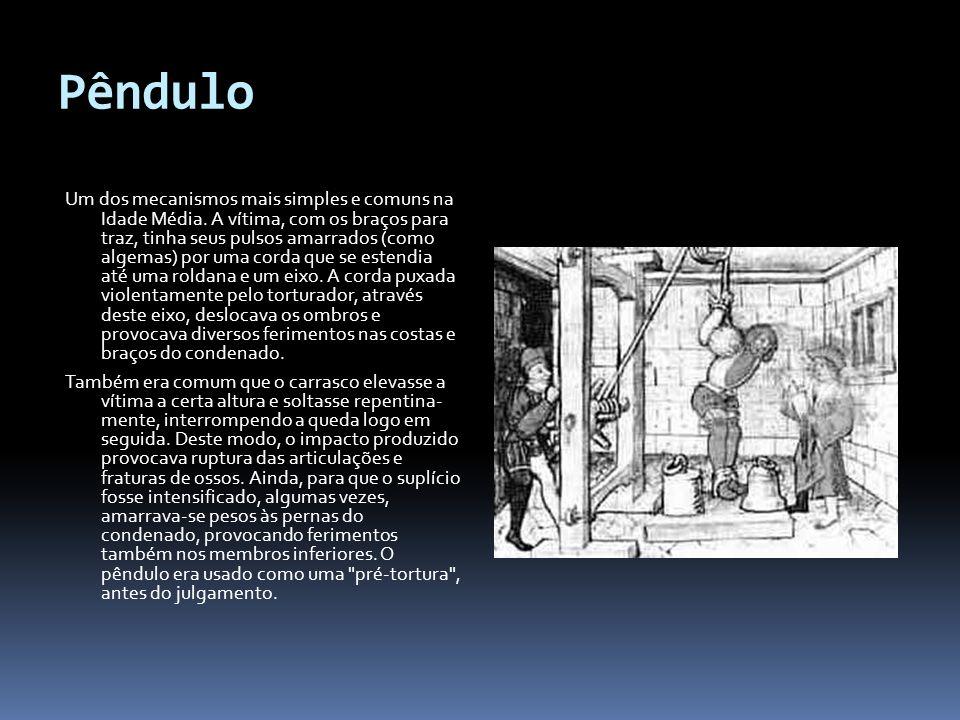 Pêndulo Um dos mecanismos mais simples e comuns na Idade Média.