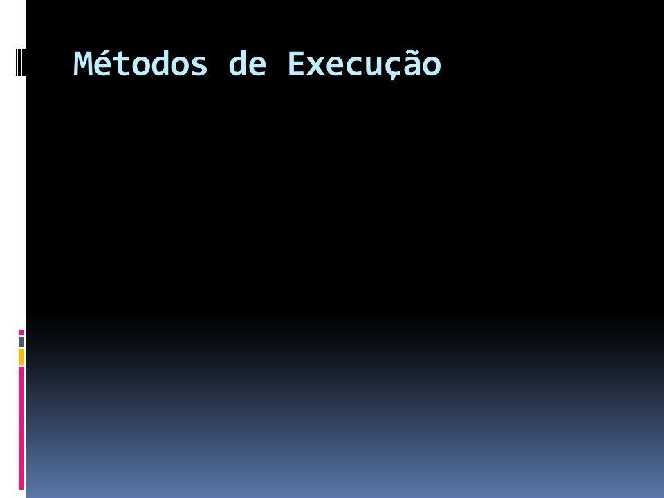 Métodos de Execução