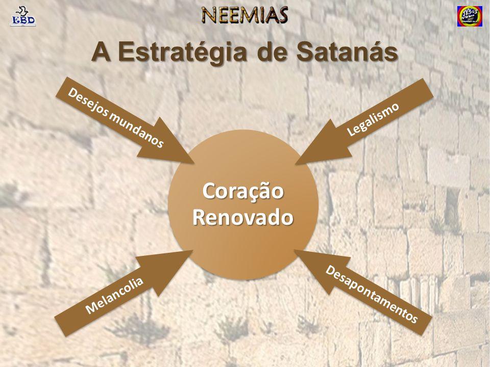 A Estratégia de Satanás Coração Renovado Legalismo Desapontamentos Desejos mundanos Melancolia