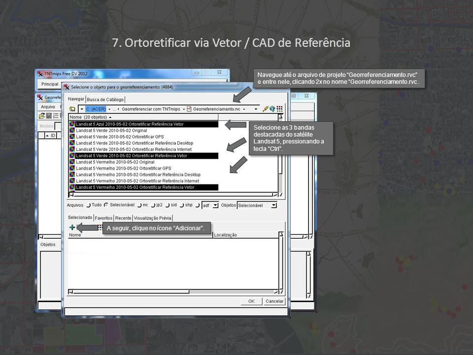 A seguir, clique no ícone Junção (t) e puxe uma linha do local (+) na imagem até o seu local correspondente no vetor.