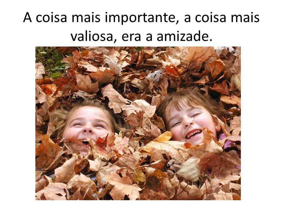 A coisa mais importante, a coisa mais valiosa, era a amizade.