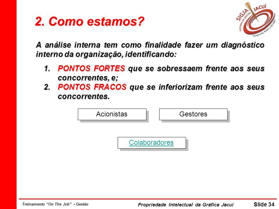Propriedade Intelectual da Gráfica Jacuí Slide 34 Treinamento On The Job - Gestão 2.