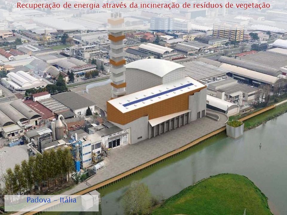 1/5/201422 Recuperação de energia através da incineração de resíduos de vegetação Padova - Itália